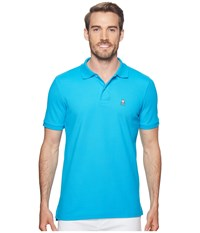 Psycho Bunny Classic Polo Fashion Colors Peacock Short Sleeve Pullover Multi