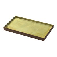 Notre Monde Gold Leaf Glass Tray