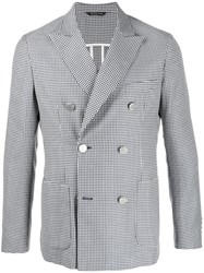 Tonello Double Breasted Houndstooth Blazer 60