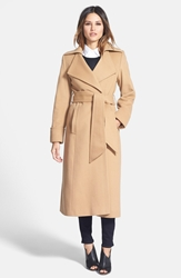 George Simonton 'Hollywood' Long Wrap Coat Camel