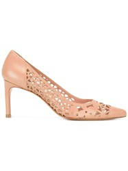 Stuart Weitzman Cut In Pumps Nude Neutrals