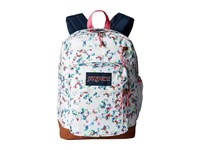 Jansport Cool Student Multi White Floral Haze Backpack Bags