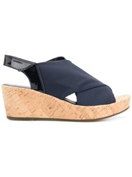 Hogl Strappy Wedge Sandals Blue