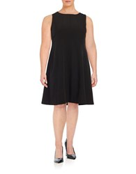 Nipon Boutique Plus Seamed Fit And Flare Dress Black
