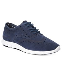 Cole Haan Zerogrand Wingtip Lace Up Oxfords Women's Shoes Marine Blue