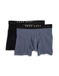 Boss Two Pack Cotton Boxer Briefs Grey