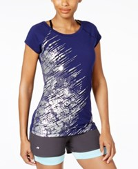Ideology Metallic Graphic T Shirt Only At Macy's Rich Plum