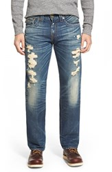 Men's Big And Tall True Religion Brand Jeans 'Ricky' Relaxed Fit Shredded Jeans Rough City