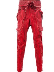 Faith Connexion Striped Trousers Red