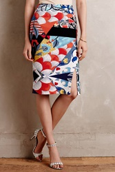 Maeve Shinjuku Blooms Pencil Skirt Black Motif