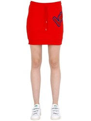 Love Moschino Patch French Terry Cotton Skirt