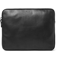 Shinola 13' Grained Leather Portfolio Black