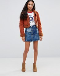 Pepe Jeans Jagger Patchwork Denim Mini Skirt Denim Blue