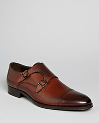 To Boot New York Medford Leather Double Monkstrap Oxfords Brown