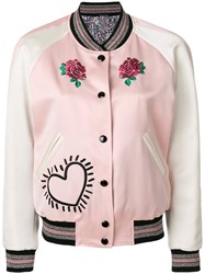 Coach X Keith Haring Reversible Satin Jacket Pink And Purple