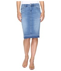 Blank Nyc Denim Rleased Hem Pencil Skirt In One Life Stand One Life Stand Women's Skirt Blue