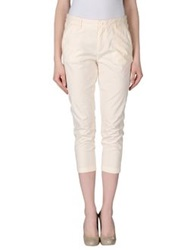 Manila Grace Denim 3 4 Length Shorts Ivory