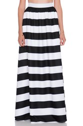 Blaque Label Striped Maxi Skirt Black