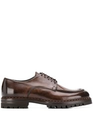 Eleventy Chunky Sole Oxford Shoes Brown