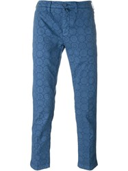 Jacob Cohen Floral Print Trousers Blue