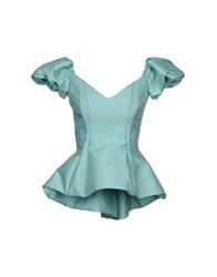 Io Couture Blouses Green