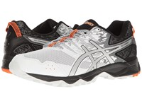 Asics Gel Sonoma 3 White Silver Hot Orange Men's Running Shoes Gray