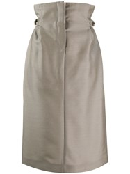 Acne Studios Paper Bag Skirt Neutrals