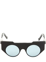 Vava Matte And Shiny Acetate Cat Eye Sunglasses Black