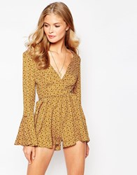Love 70'S Playsuit With Bell Sleeves Spot