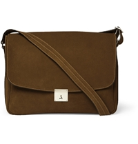 Valextra Suede Messenger Bag Brown
