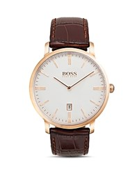 Hugo Boss Tradition Watch 40Mm White Brown