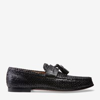 Bally Men's Goat Leather Tassel Moccasin In Black 0100 Black