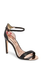 Ted Baker 'S London Sharlot Ankle Strap Sandal Black Leather