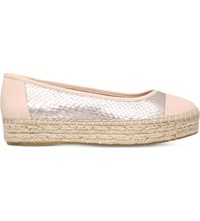 Carvela Lionel Leather Espadrilles Nude