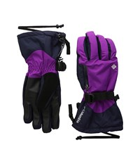 Columbia Bugaboo Interchange Glove Bright Plum Ebony Blue Extreme Cold Weather Gloves Purple