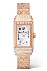 Jaeger Lecoultre Reverso One Duetto 36.3Mm Rose Gold Diamond Watch One Size
