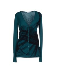 Pinko Grey Knitwear Cardigans Women Dark Green