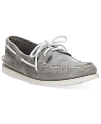 Sperry Men's A O White Cap Boat Shoes Men's Shoes Grey