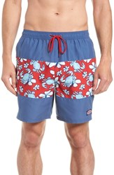Vineyard Vines Chappy Crab Piece Swim Trunks Deep Bay