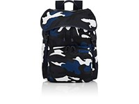 Valentino Men's Flap Front Backpack Black Blue White Navy