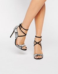 Miss Kg Steffan Strappy Heeled Sandals Black Other