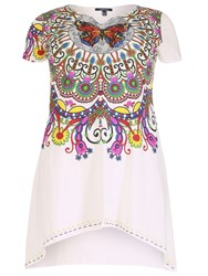 Samya Plus Size T Shirt With Mexican Print White