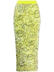 Y Project Printed High Waist Skirt Green