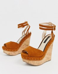 Miss Selfridge Perspex Mules In Multi Tan
