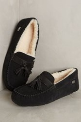 Anthropologie Australia Luxe Collective Patrese Moccasin Slippers Black 7 Lounge