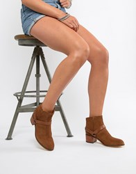 Hudson H By Leather Ankle Boots Tan