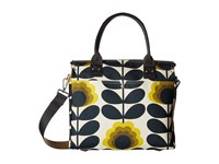 Orla Kiely Summer Flower Stem Zip Messenger Sunshine Messenger Bags Yellow