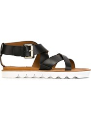 See By Chloa Crossover Strap Sandals Black