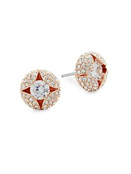 Adriana Orsini Cordial Crystal Stud Earrings Rose Gold