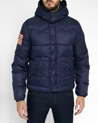 Denim And Supply Ralph Lauren Blue Flag Down Jacket